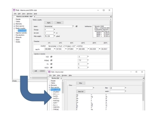 Thermo data editor